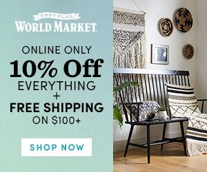 World Market 10% off