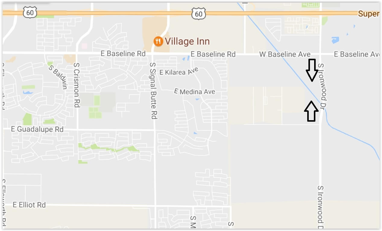 Lane Closure Advisory for Guardrail Repair on Ironwood in Apache Junction