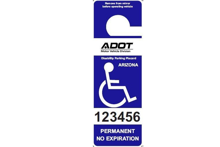 No more expiration dates for portable permanent MVD disability placards